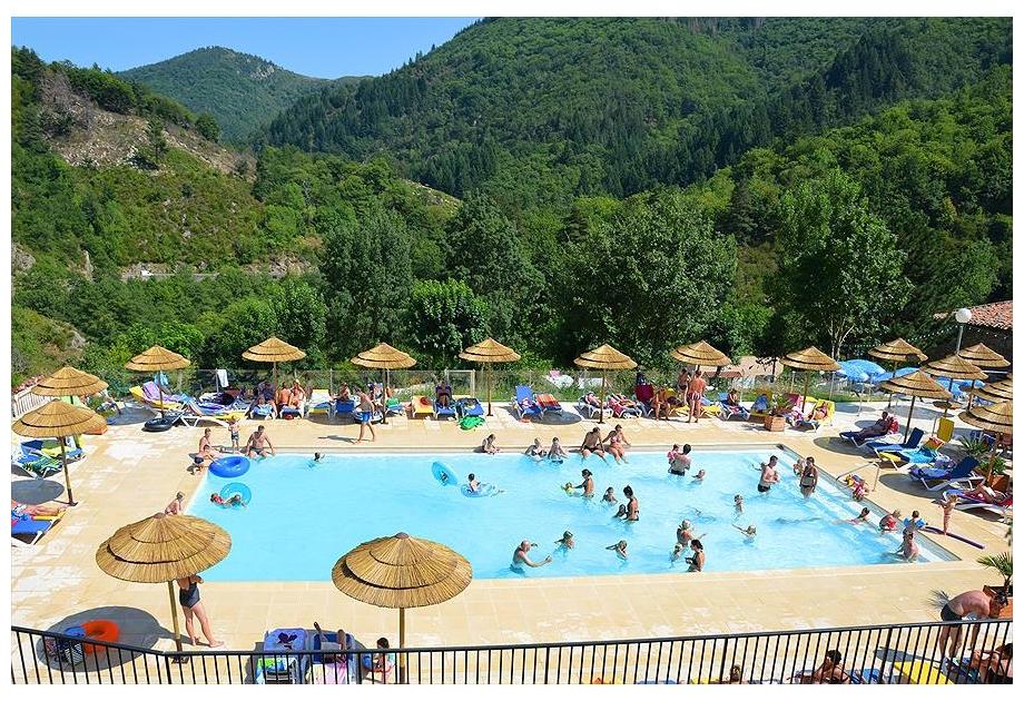 Campsite l'Ardechois, Saint-Sauveur-de-Montagut,Rhone Alpes,France