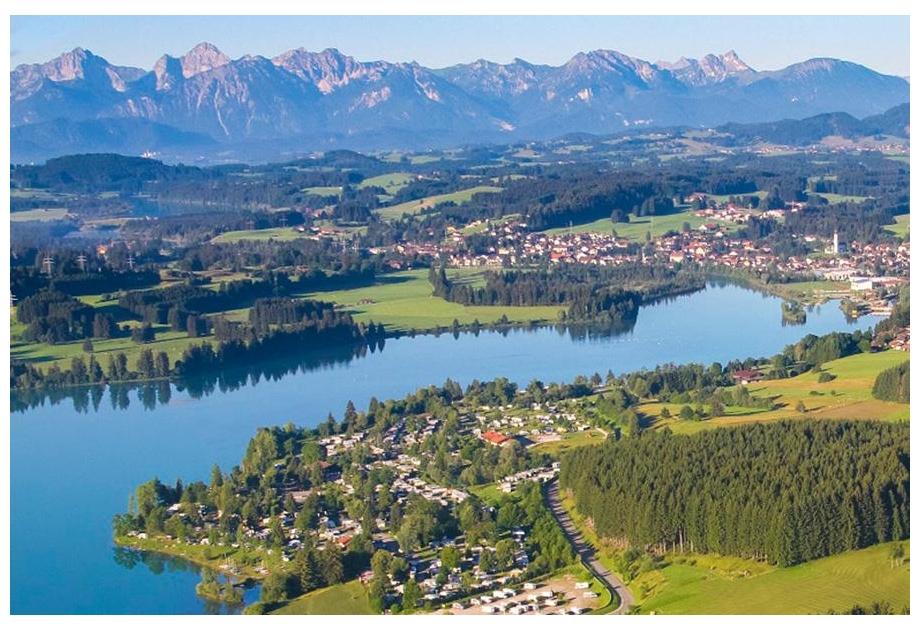 Via Claudia Camping, Lechbruck,Bavaria,Germany